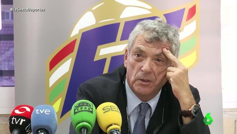 Villar no da explicaciones sobre su renuncia a presidir la UEFA.