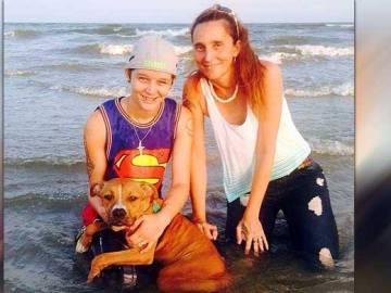 Patricia Ann Spann y su hija Misty Velvet Dawn.