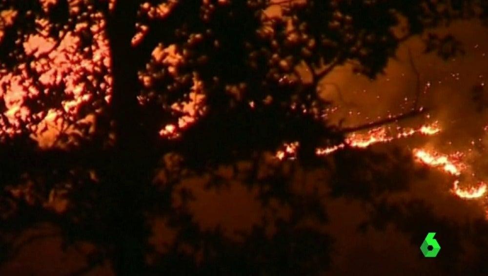 Incendios en Portugal.