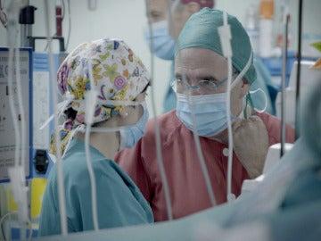 Dentro de el Hospital La Paz