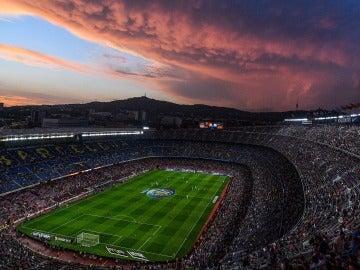 Todo listo en el Camp Nou