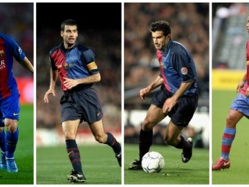 Messi, Guardiola, Figo y Ronaldinho