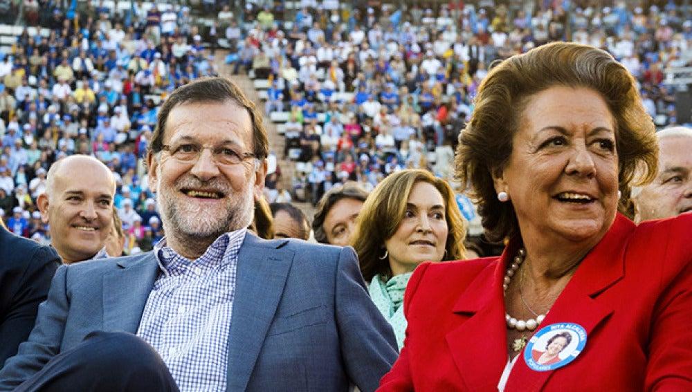 Rita Barberá con Mariano Rajoy