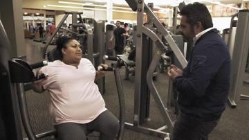 Bibian hace deporte para bajar su sobrepeso