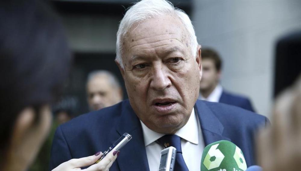 El ministro de Exteriores,  García- Margallo.