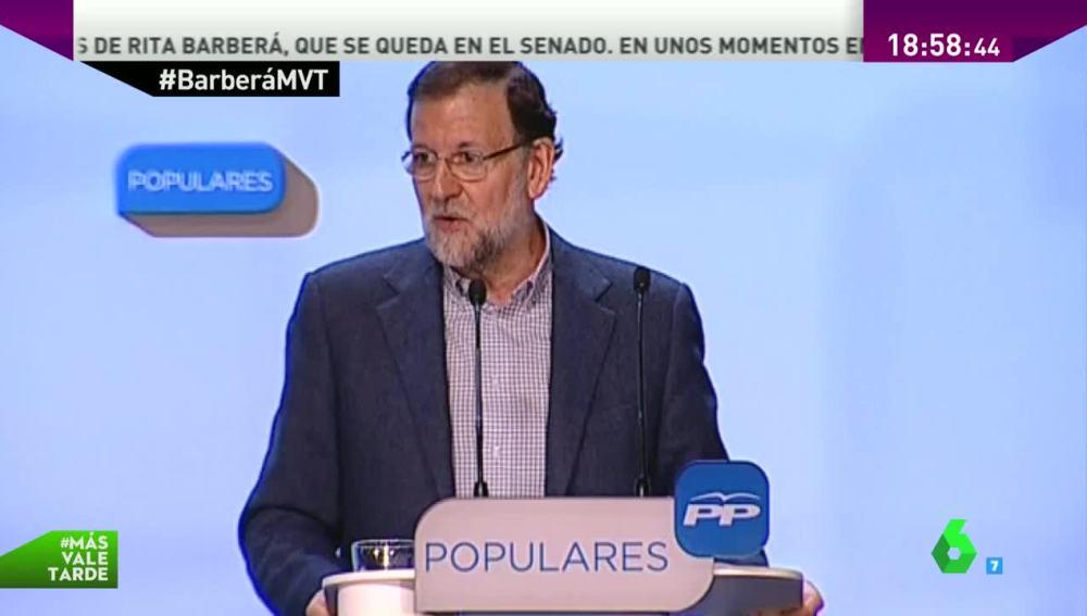 Mariano Rajoy habla de Rita Barberá