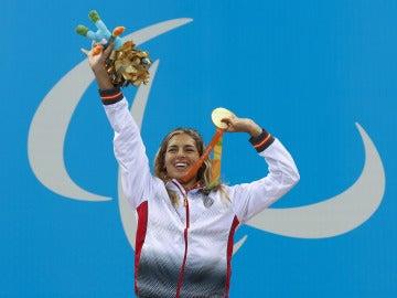 Michelle Alonso, oro en los 100 metros baza de los Paralímpicos de Río.