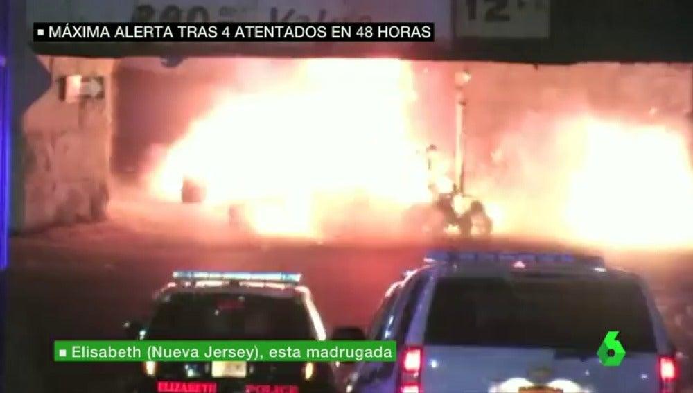 Frame 5.228192 de: Se registra una explosión controlada en Nueva Jersey tras ser localizado un paquete sospechoso