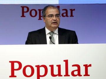 El expresidente del Banco Popular, Ángel Ron