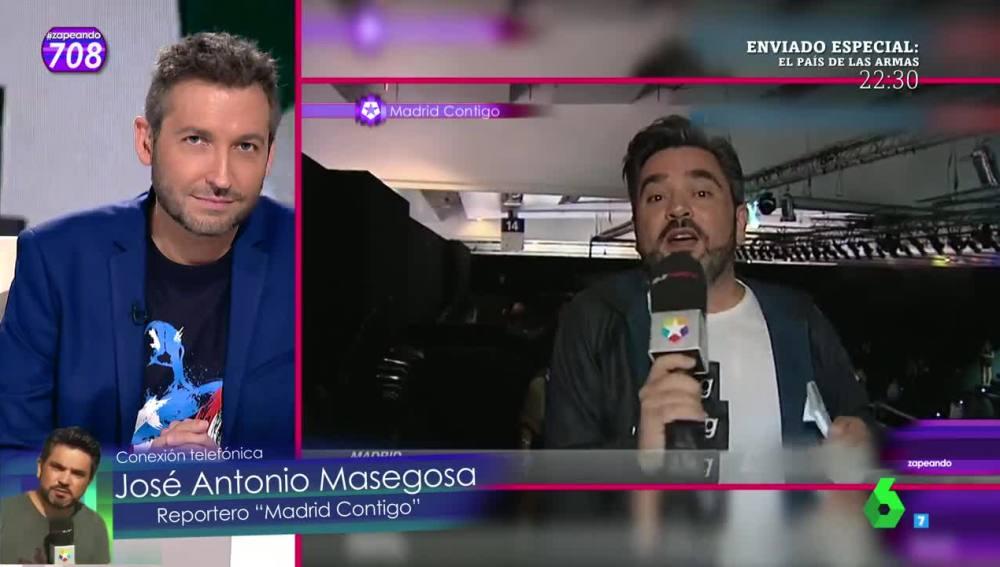 El reportero Jose Antonio Masegosa conecta con Zapeando