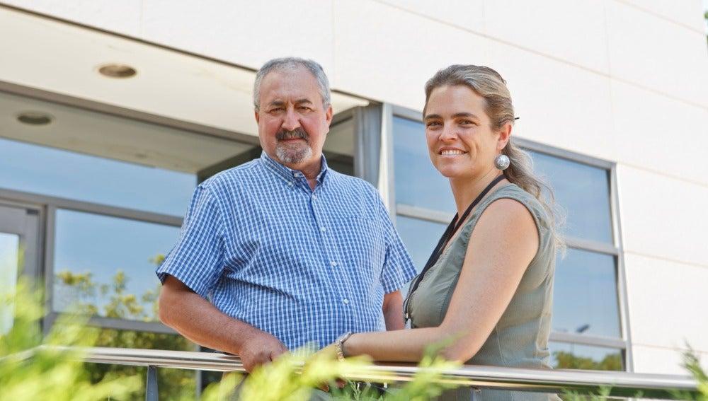 Los investigadores Ignacio Morell y Aria