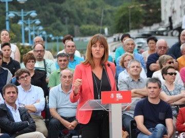 La candidata a lehendakari del PSE-EE, Idoia Mendia.