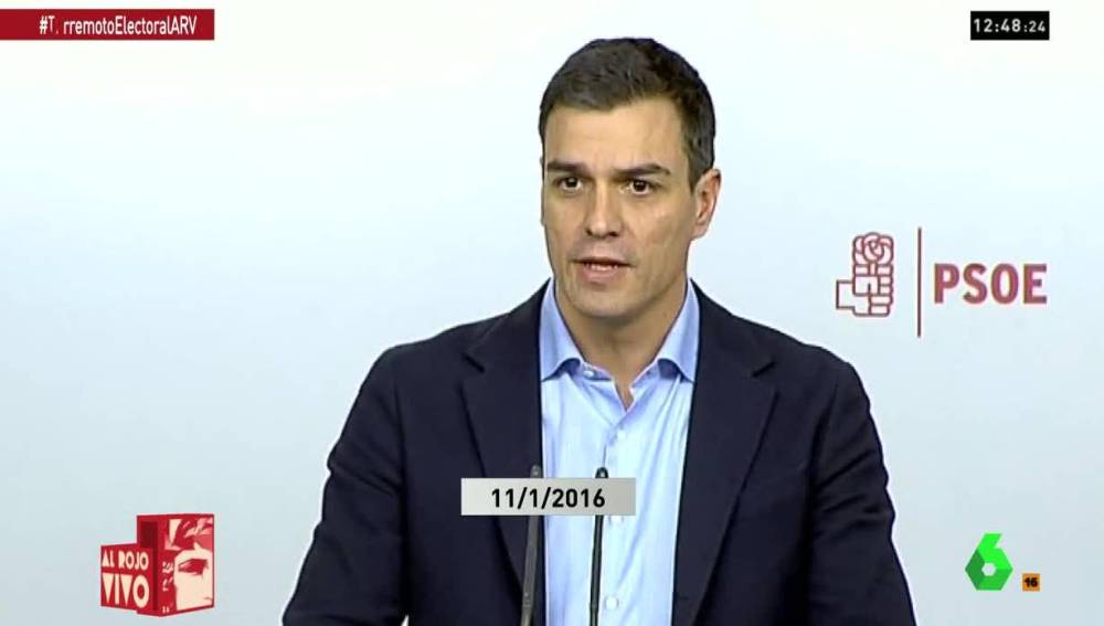 Pedro Sánchez ante los medios