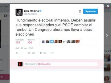 Tuit de Eduardo Madina