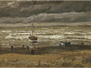 'Vista del mar en Scheveningen', de Van Gogh (1882)