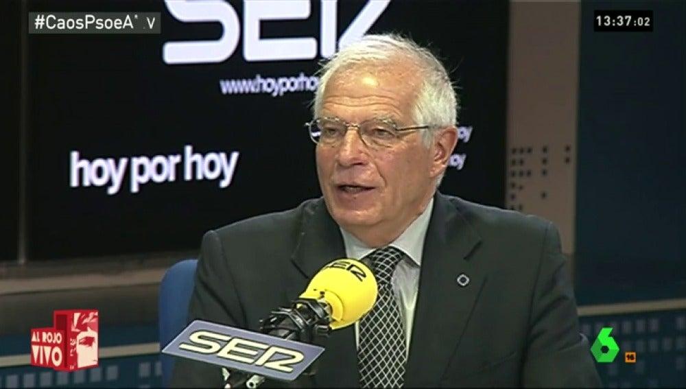 """Frame 18.923459 de: Josep Borrell: """"Si esto fuera un golpe de estado, estaría organizado por un sargento chusquero"""""""