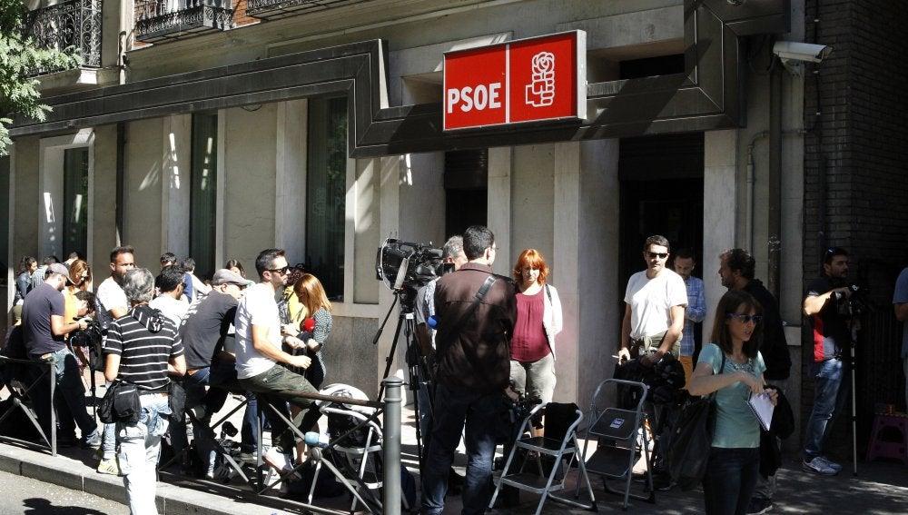 La sede del PSOE en la calle Ferraz de Madrid