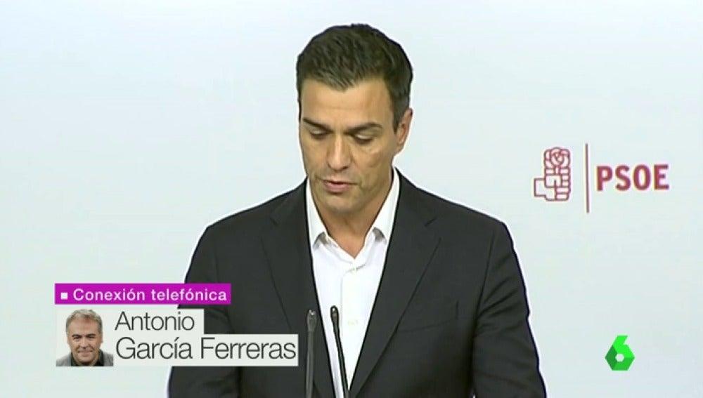 """Frame 35.032866 de: Ferreras: """"Sánchez lanza un órdago para convertir el Comité en un debate sobre quién apoya la abstención"""""""