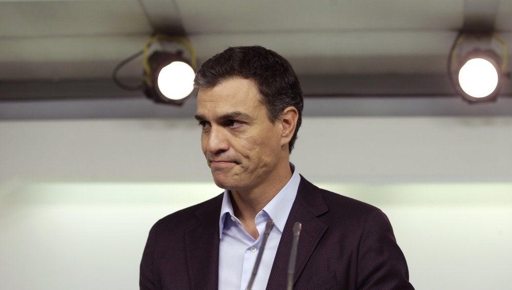 Pedro Sánchez, durante una comparecencia en Ferraz | Archivo