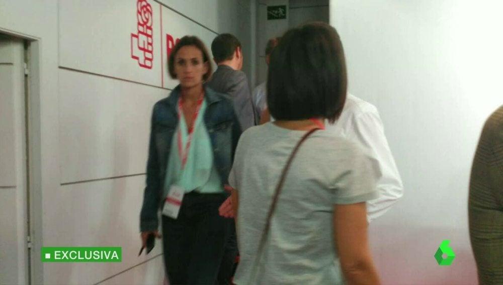 Momentos de tensión durante la votación en el Comité Federal del PSOE