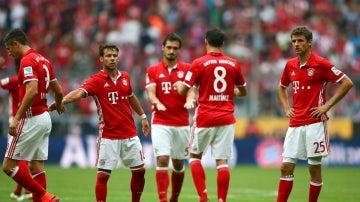 Los jugadores del Bayern, cariacontecidos
