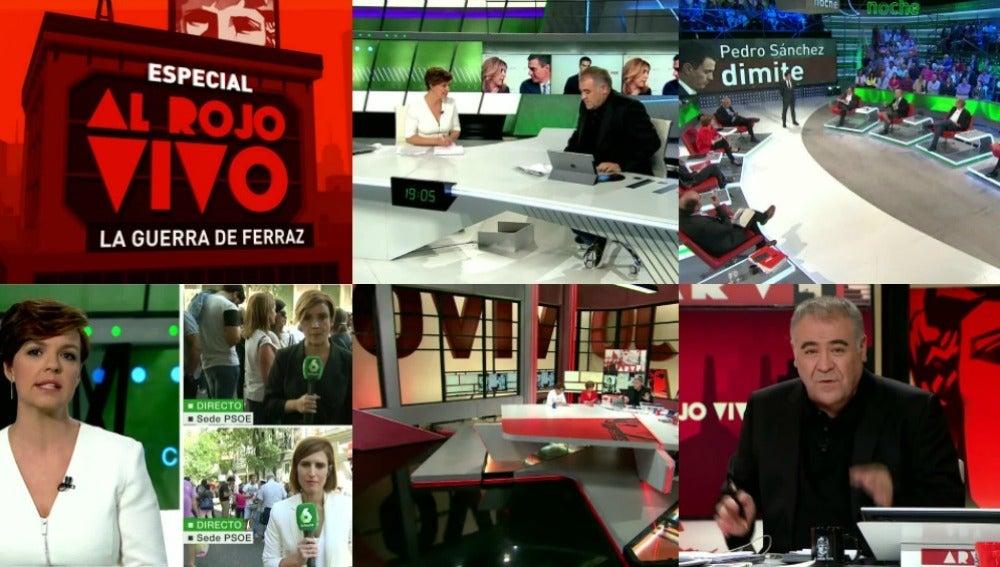 Más de 13,7 millones de ciudadanos eligieron laSexta en algún momento del sábado para informarse de la crisis del PSOE