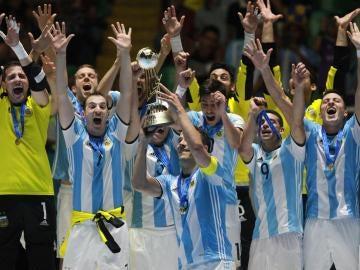 Argentina celebra la victoria en el Mundial de Fútbol Sala