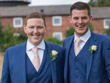 Rob y Andy durante la boda de éste.