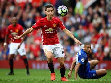 Ander Herrera, en un partido con el Manchester United