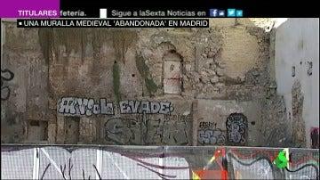 Un tramo de la muralla medieval cristiana.