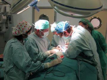 Un grupo de médicos realiza un trasplante de útero de un donante vivo