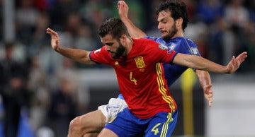 Nacho, jugador de la Selección española