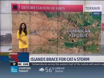 Jennifer Delgado, la presentadora del canal de televisión The Weather Channel