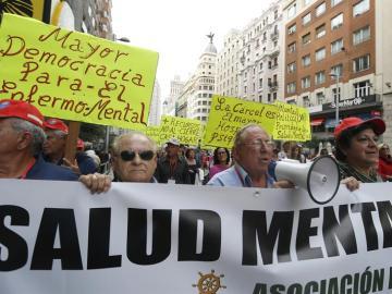 Concentración en Madrid con motivo del Día Mundial de la Salud Mental