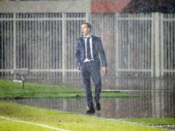 Julen Lopetegui, durante el partido contra Albania