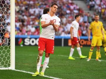 Milik, durante un partido de la pasada Eurocopa de Francia