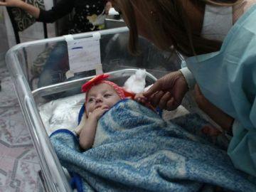 Mais, bebé siria de dos meses