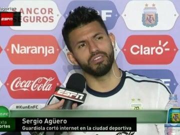 Sergio 'Kun' Agüero, jugador del Manchester City