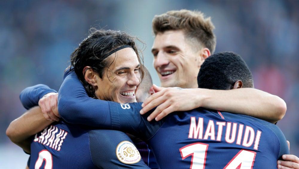 El PSG celebra un gol