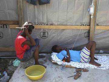 Afectados por el cólera en Haití