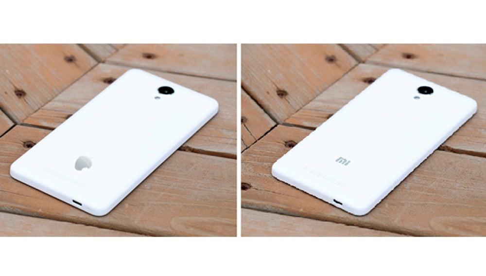 Comparativa del reverso de dos teléfonos Zetta y Xiaomi