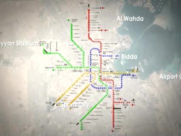 Lo que será Estación de metro más grande del mundo, en Doha, Qatar