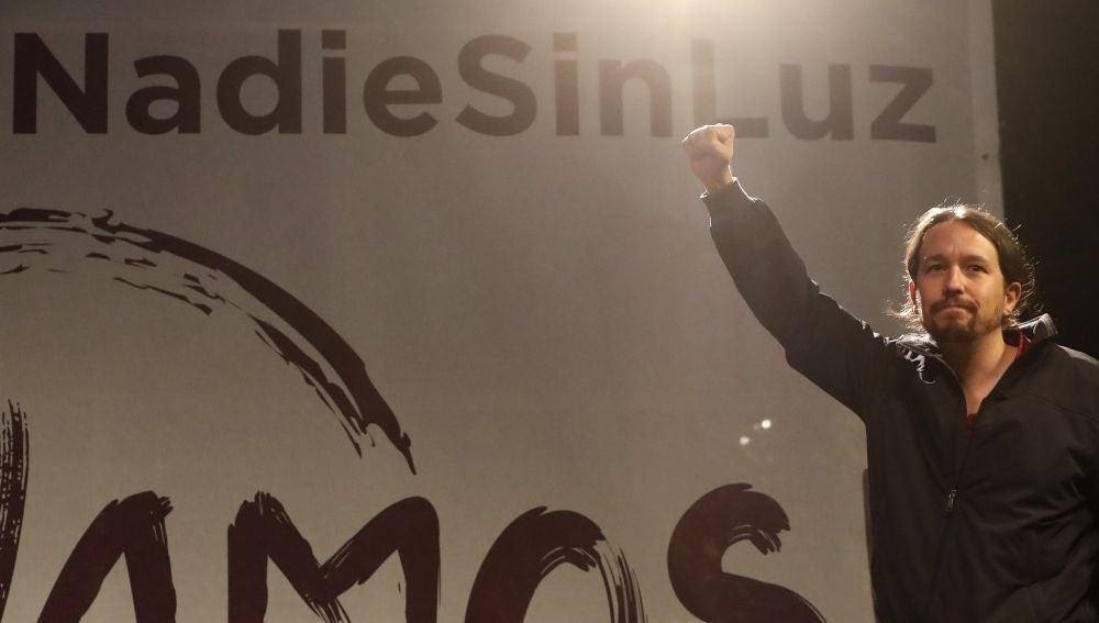 Pablo Iglesias, durante un mitin de Podemos