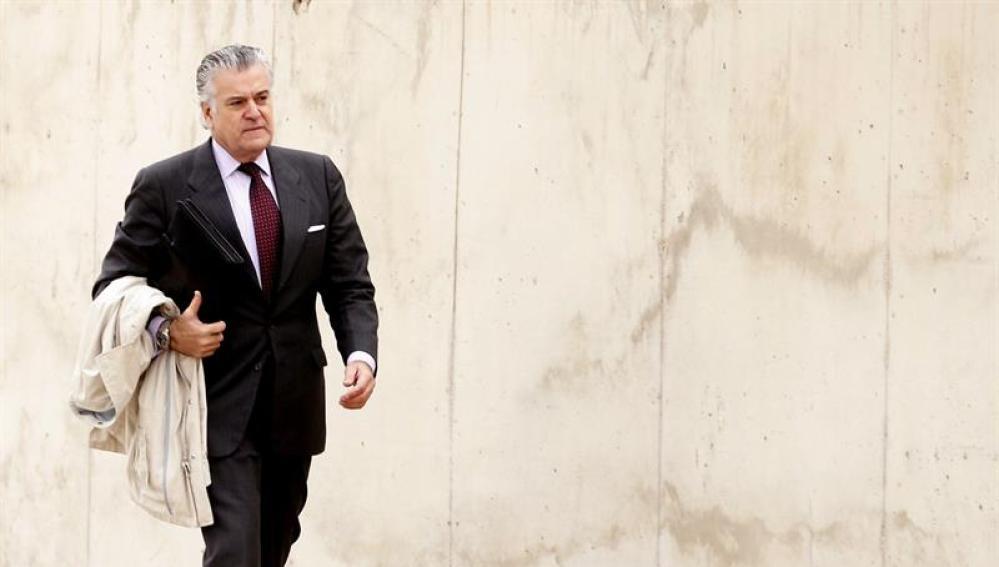 Luis Bárcenas, extesorero del PP, a su llegada a la Audiencia Nacional