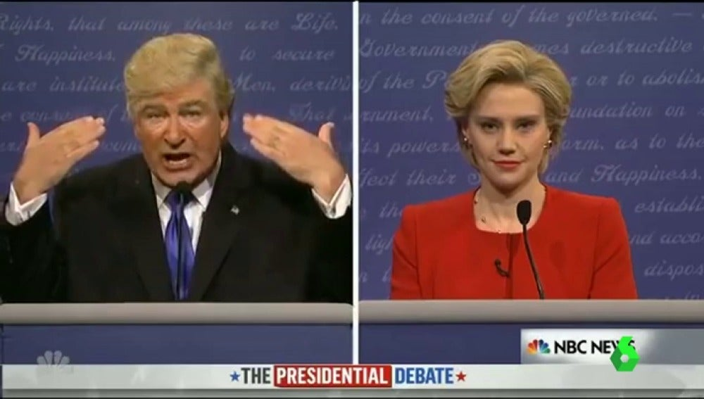 Parodia de Donald Trump y Hillary Clinton en 'Saturday Night Live'
