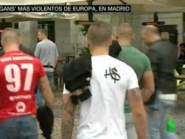 Ultras del Legia en Madrid