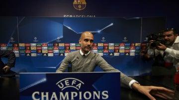Guardiola, en sala de prensa