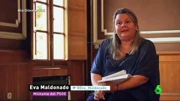 """Frame 18.445767 de: Eva, militante del PSOE: """"Nos han amordazado, no deberían obviarnos ni despreciarnos"""""""