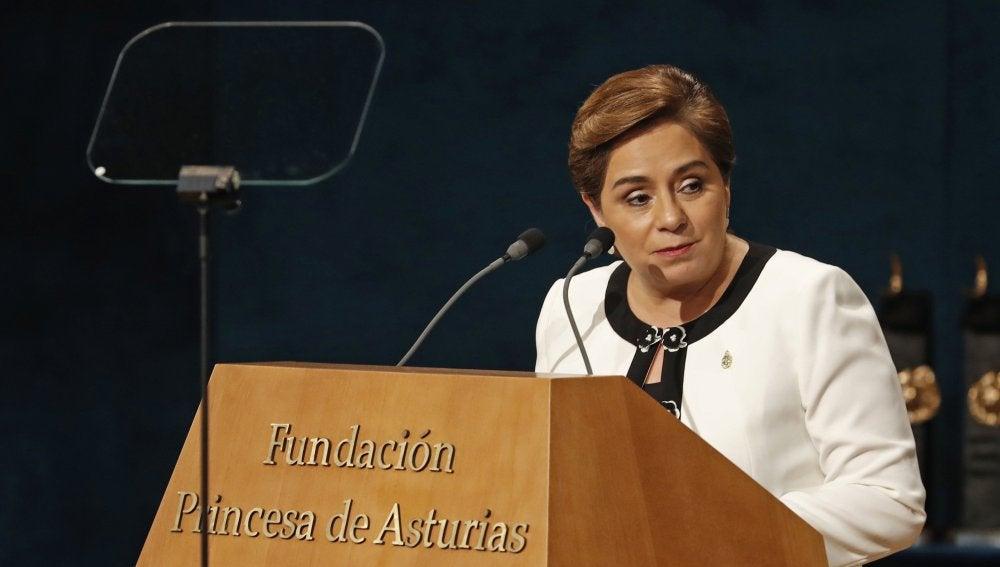 La secretaria ejecutiva de la Convención Marco de Naciones Unidas sobre el Cambio Climático (CMNUCC), Patricia Espinosa