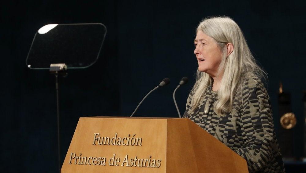 La historiadora británica Mary Beard, galardonada en la categoría de Ciencias Sociales
